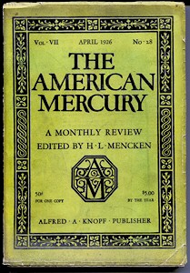 Front cover of April 1926 American Mercury