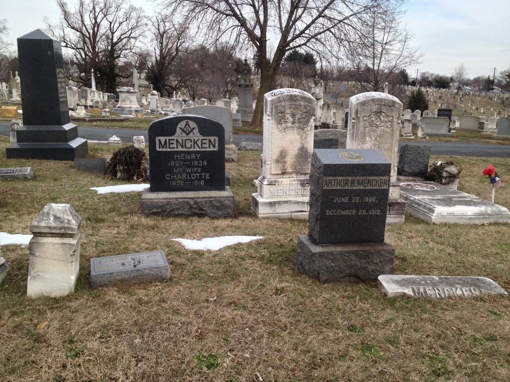 Mencken Family Grave Site 2016-01